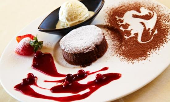 Бисквит с горячим шоколадом